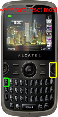 Alcatel One Touch 800D Tribe Hard Reset