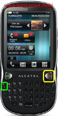 Alcatel One Touch 806D Hard Reset