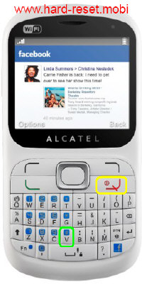 Alcatel One Touch 813F Hard Reset