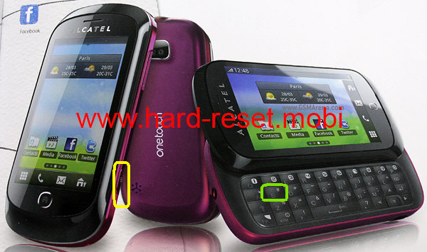 Alcatel One Touch 888D Hard Reset