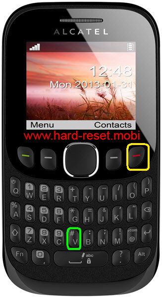 Alcatel One Touch Tribe 30.00 Hard Reset