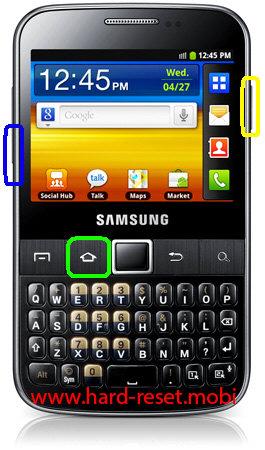 Samsung Galax Y Pro B5510B Download Mode