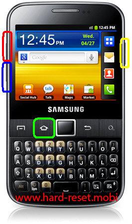 Samsung Galax Y Pro B5510B Hard Reset