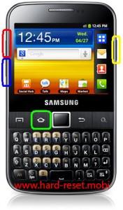Samsung Galax Y Pro B5510L Hard Reset