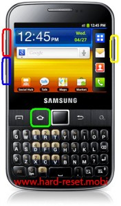 Samsung Galax Y Pro B5512 Hard Reset