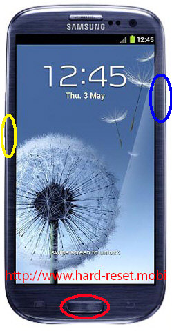 Samsung Galaxy S3 GT-I9300T Download Mode