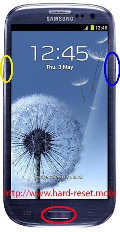 Samsung Galaxy S3 GT-I9300T Hard Reset