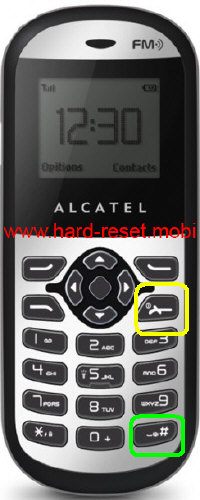 alcatel One Touch 109 Hard Reset
