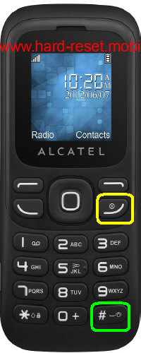 Alcatel One Touch 232 Hard Reset