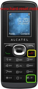 Alcatel One Touch 233 Hard Reset