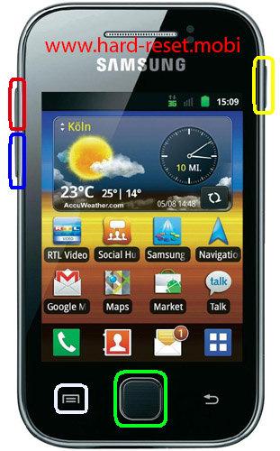 Samsung Galaxy Y GT S5368 Hard Reset
