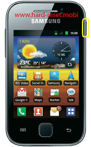 Samsung Galaxy Y S5360T Soft Reset