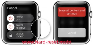 Apple Watch Hard Reset without iPhone