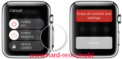 Apple Watch Hard Reset without a paired iPhone