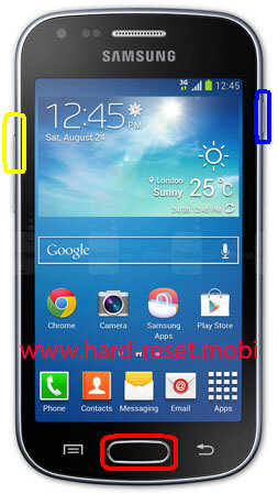 Samsung Galaxy S Duos GT-S7562 Hard Reset