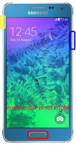 Samsung Galaxy Alpha SM-G850F Hard Reset