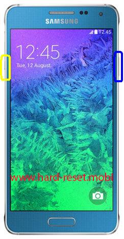 Samsung Galaxy Alpha SM-G850F Soft Reset