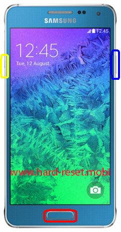 Samsung Galaxy Alpha SM-G850FQ Download Mode