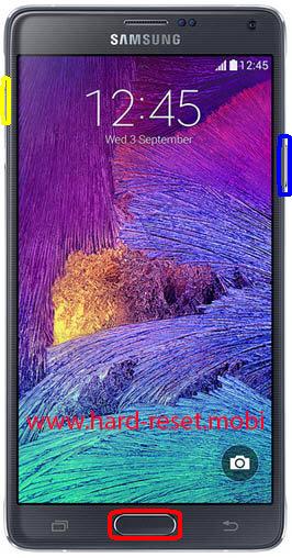 Samsung Galaxy Note 4 SM-N9106W Hard Reset