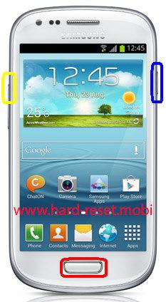 Samsung Galaxy S3 Mini GT-I8190T Hard Reset