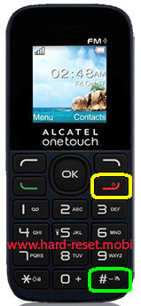 Alcatel One Touch 1013X Hard Reset