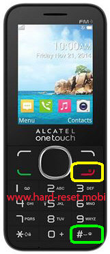 Alcatel One Touch 2045G Hard Reset