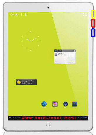 Turbo-X Tablet Hive V 3G Hard Reset
