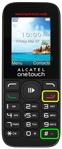 Alcatel 1050 Hard Reset