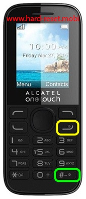 Alcatel 1052 Hard Reset