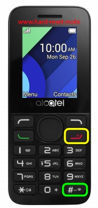 Alcatel 1054 Hard Reset