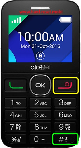 Alcatel 2008 Hard Reset