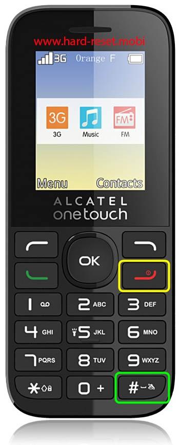 Alcatel 2036 Hard Reset