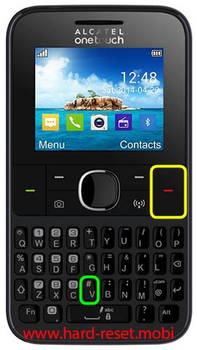 Alcatel 3022 Hard Reset
