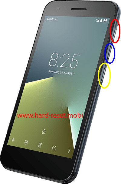 Vodafone Smart E8 Hard Reset