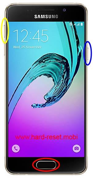 Samsung Galaxy A3 2016 Hard Reset